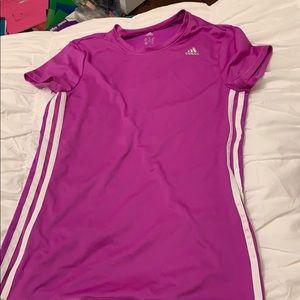 fuchsia pink adidas workout shirt